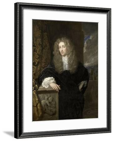 Portrait of a Man, Possibly a Member of the Van Citters Family-Caspar Netscher-Framed Art Print