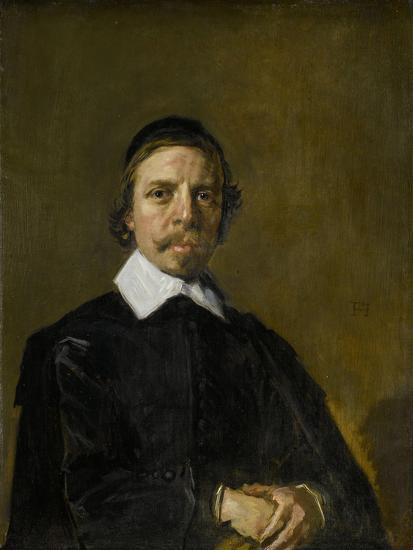 Portrait of a Man, Possibly a Preacher, Frans Hals.-Frans Hals-Art Print