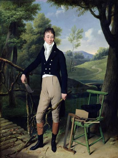 Portrait of a Man, Possibly Monsieur D'Aucourt De Saint-Just, circa 1800-Louis Leopold Boilly-Giclee Print