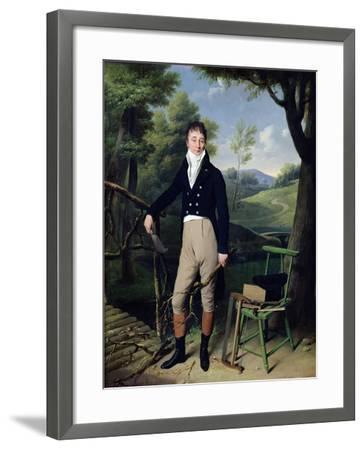 Portrait of a Man, Possibly Monsieur D'Aucourt De Saint-Just, circa 1800-Louis Leopold Boilly-Framed Giclee Print