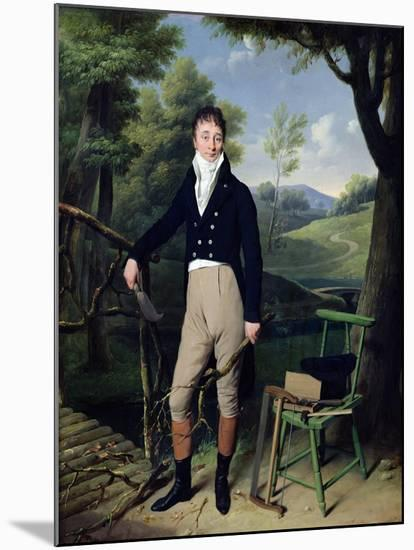 Portrait of a Man, Possibly Monsieur D'Aucourt De Saint-Just, circa 1800-Louis Leopold Boilly-Mounted Giclee Print