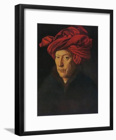'Portrait of a Man (Self Portrait?)', 1433-Jan van Eyck-Framed Giclee Print