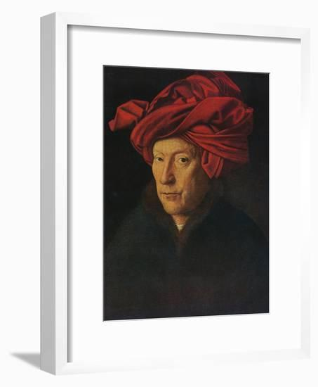 'Portrait of a Man (Self Portrait?)', 1433-Jan van Eyck-Framed Giclee Print