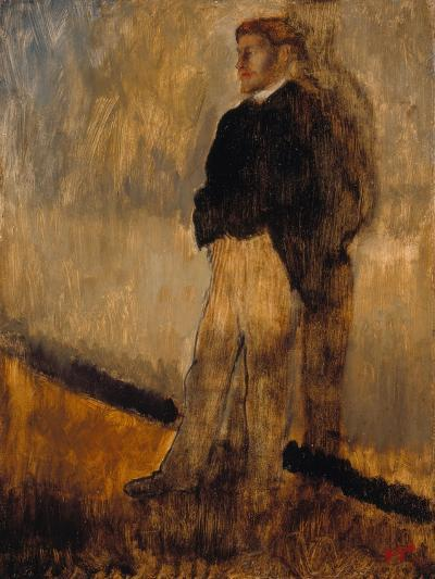 Portrait of a Man Standing with His Hands in His Pockets, 1868-1869-Edgar Degas-Giclee Print