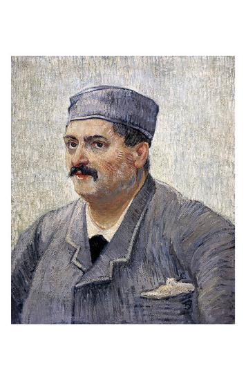 Portrait of a Man with a Skullcap-Vincent van Gogh-Art Print