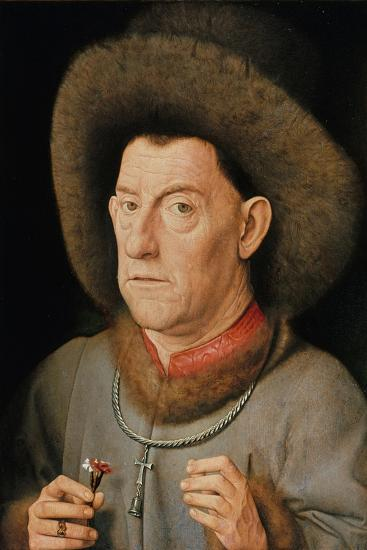 Portrait of a Man with Carnation and the Order of Saint Anthony-Jan van Eyck-Giclee Print