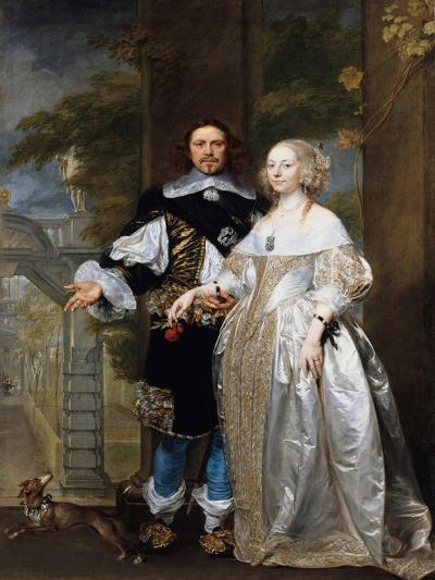 Portrait of a Married Couple in the Park, 1662-Gonzales Coques-Giclee Print