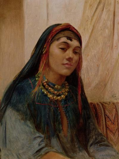 Portrait of a Middle Eastern Girl, circa 1859-Frederick Goodall-Giclee Print