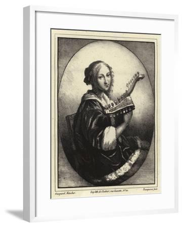 Portrait of a Musician-Caspar Netscher-Framed Giclee Print