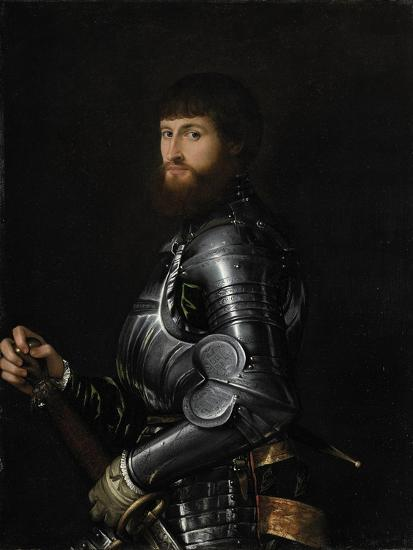 Portrait of a Nobleman in Armour, Between 1540 and 1560-Giovan Battista Moroni-Giclee Print