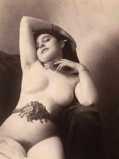 Portrait of a Nude Woman with a Belt--Photographic Print