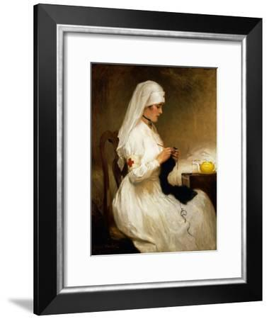 Portrait of a Nurse from the Red Cross-Gabriel Emile Niscolet-Framed Giclee Print
