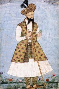 Portrait of a Persian Dignitary, C.1640-1660 (W/C and Gold Paint on Paper)