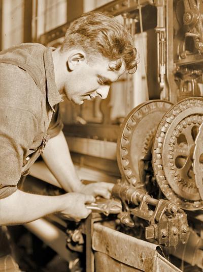 Portrait of a Powerhouse Mechanic, C.1924-Lewis Wickes Hine-Photographic Print