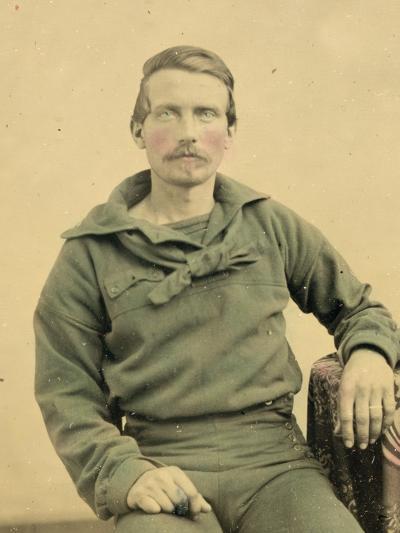 Portrait of a Sailor in Union Uniform, C.1861--Photographic Print