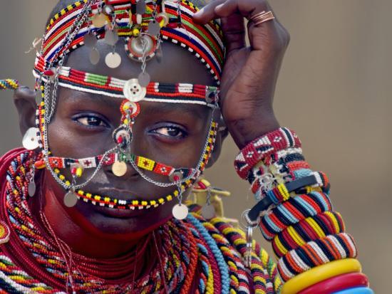 Portrait of a Samburu Maiden--Photographic Print