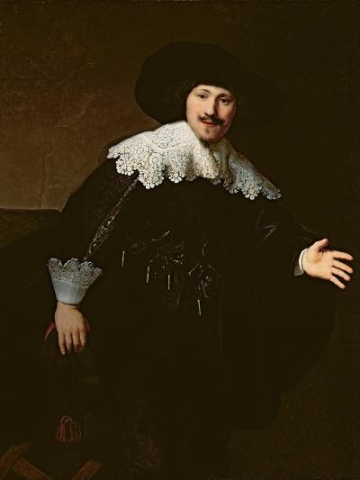 Portrait of a Seated Man Rising from His Chair, 1633-Rembrandt van Rijn-Giclee Print