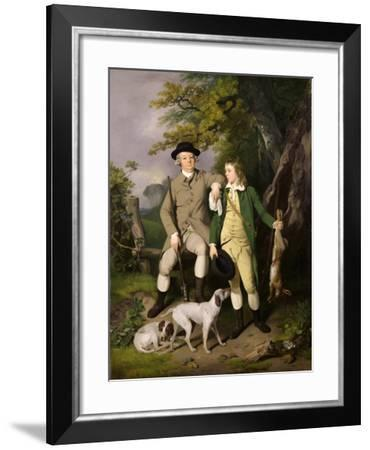 Portrait of a Sportsman with His Son, 1779-Francis Wheatley-Framed Giclee Print