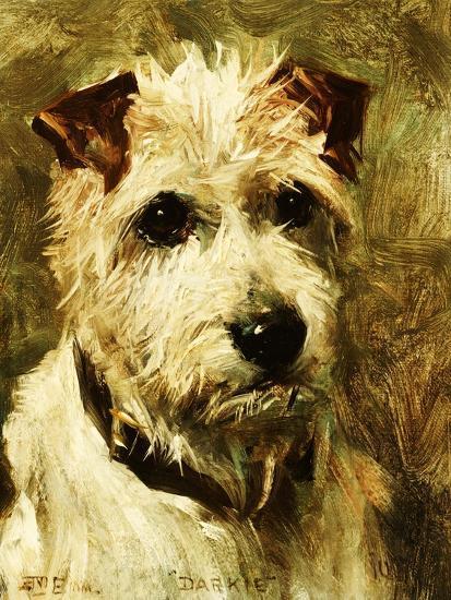 Portrait of a Terrier: Darkie, 1903-John Emms-Giclee Print