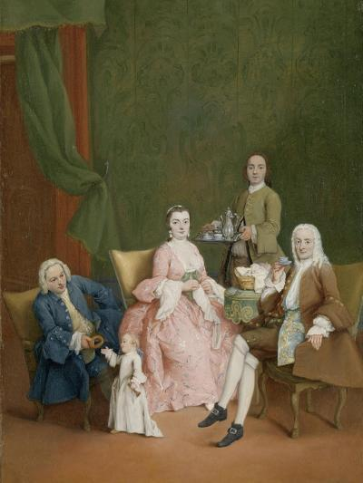 Portrait of a Venetian Family with a Manservant Serving Coffee-Pietro Longhi-Art Print