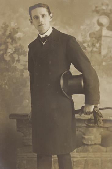 Portrait of a Well-Dressed Man--Photographic Print