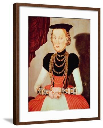 Portrait of a Woman, 1564-Lucas Cranach the Elder-Framed Giclee Print