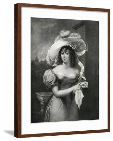 Portrait of a Woman, 18th Century- Nicholas-Framed Giclee Print