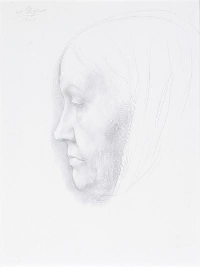 Portrait of a Woman, 1901 (Silver Point)-Alphonse Legros-Giclee Print