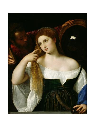 Portrait of a Woman at Her Toilet, 1512-15-Titian (Tiziano Vecelli)-Giclee Print