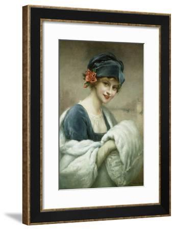 Portrait of a Woman by Francois Martin-Kavel-Francois Martin-kavel-Framed Giclee Print