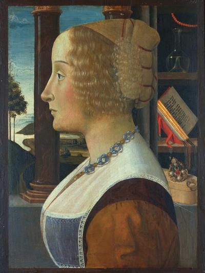Portrait of a Woman, C.1490-Domenico Ghirlandaio-Giclee Print