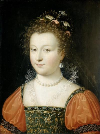 Portrait of a Woman (previously identified as Queen Elizabeth I), 1550-74- Fontainebleau School-Giclee Print