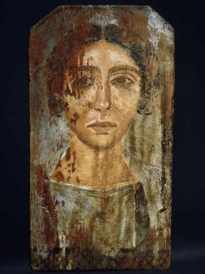 Portrait of a woman, Roman Egypt, probably 3rd century AD-Werner Forman-Giclee Print
