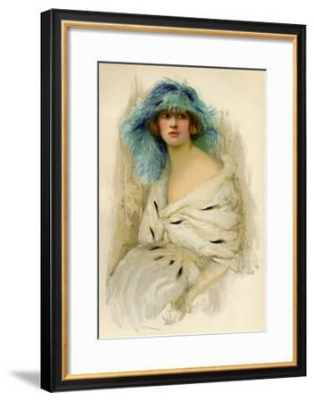 Portrait of a Woman Showing 1920S Fashion--Framed Giclee Print