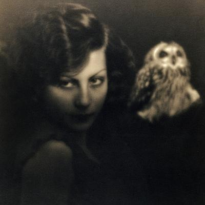 Portrait of a Woman with an Owl-Bruno Miniati-Photographic Print