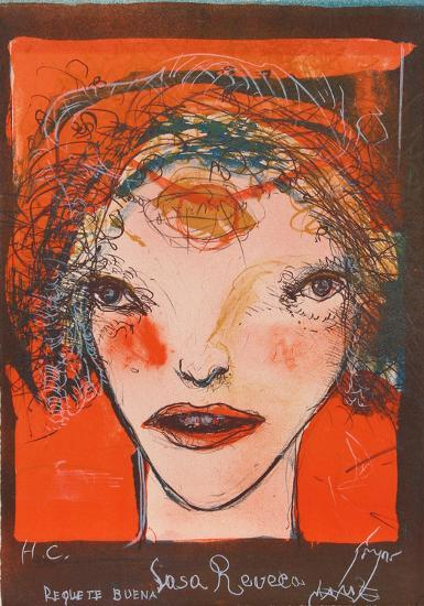 Portrait of a Woman with Red Cheeks-Leonel Gongora-Limited Edition