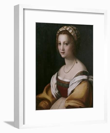 Portrait of a Woman-Andrea del Sarto-Framed Giclee Print