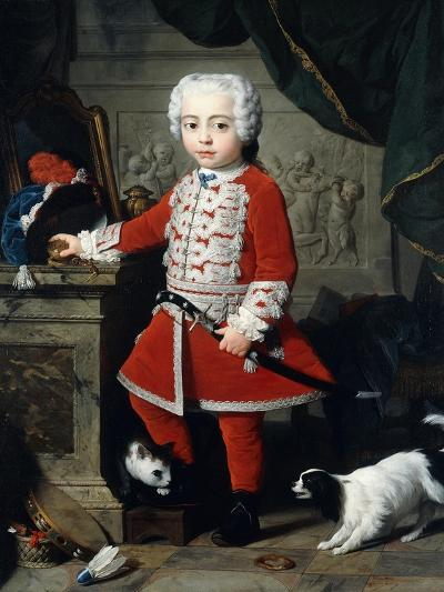 Portrait of a Young Boy in Hungarian Dress-Pierre Subleyras-Giclee Print
