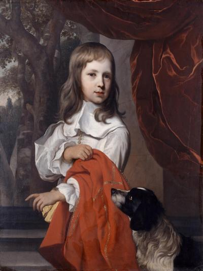 Portrait of a Young Boy with a Dog, 1658-Jacob van Loo-Giclee Print