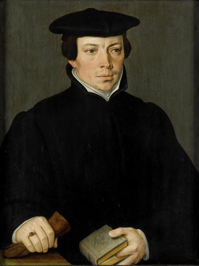 Portrait of a Young Clergyman, Pieter Pourbus.-Pieter Pourbus-Art Print