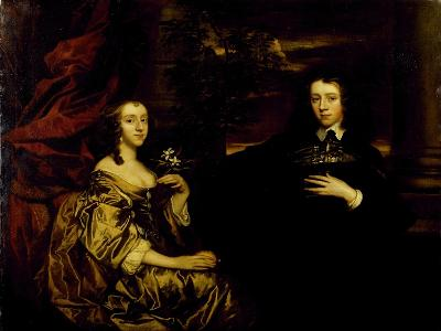 Portrait of a Young Gentleman and His Wife, C.1655-58-Sir Peter Lely-Giclee Print