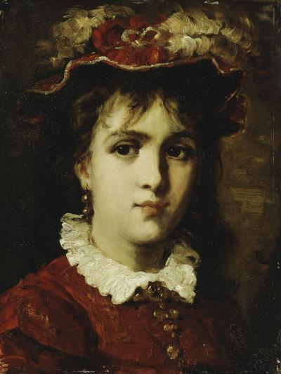 Portrait of a Young Girl, 1876-Leon Joseph Florentin Bonnat-Giclee Print
