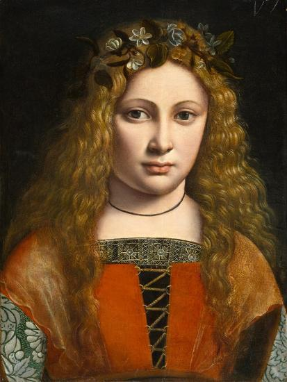 Portrait of a Young Girl Crowned with Flowers, c.1490-Giovanni Antonio Boltraffio-Giclee Print