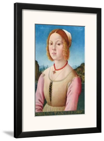 Portrait of a Young Girl, Noli Me Tangere-Lorenzo Credi-Framed Art Print