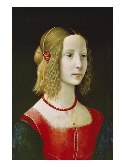 Portrait of a Young Girl. Probably About 1490-Domenico Ghirlandaio-Giclee Print
