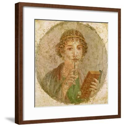 Portrait of a Young Girl--Framed Giclee Print