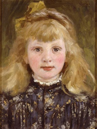 Portrait of a Young Girl-James Charles-Giclee Print