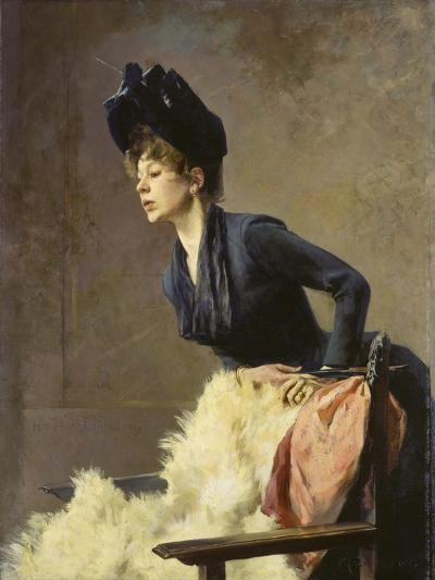 Portrait of a Young Lady, 1889-Hugo von Habermann-Giclee Print
