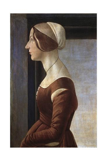 Portrait of a Young Lady by Sandro Botticelli--Giclee Print
