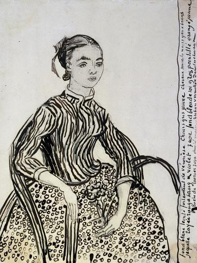 Portrait of a Young Lady (La Mousm), 1888-Vincent van Gogh-Giclee Print
